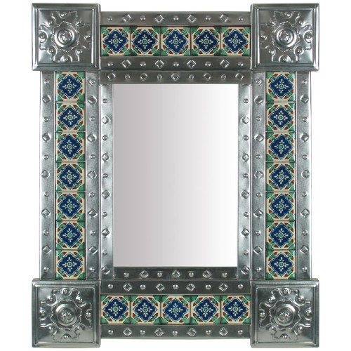 Mexican Natural Tin Tile Mirror Katie My style Pinterest 500x500