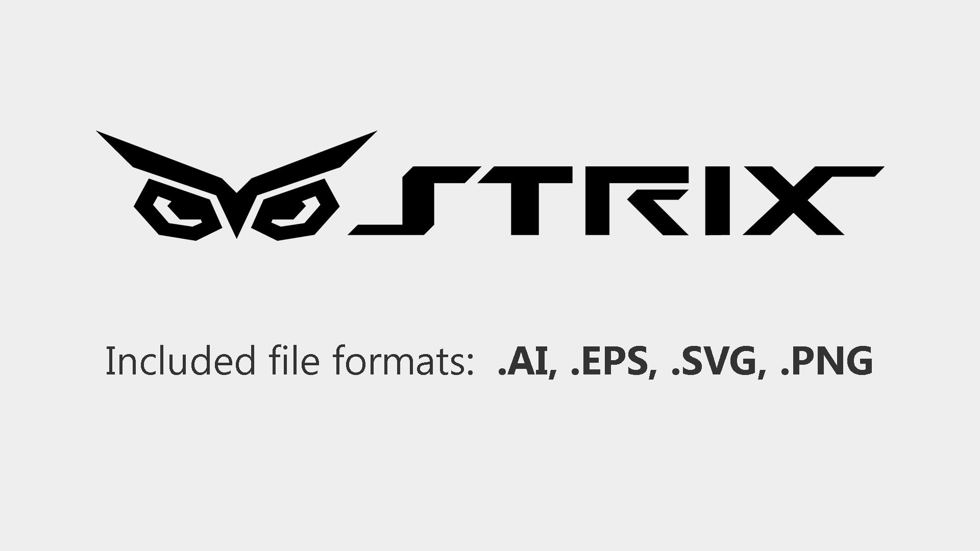 ASUS STRIX logo vector by RenegadeAI 1920x1080