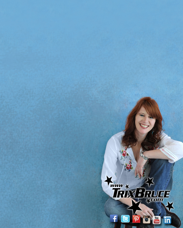 Blank Flyer Blue Background Trix white shirt sitting sample   Trix 2400x3000