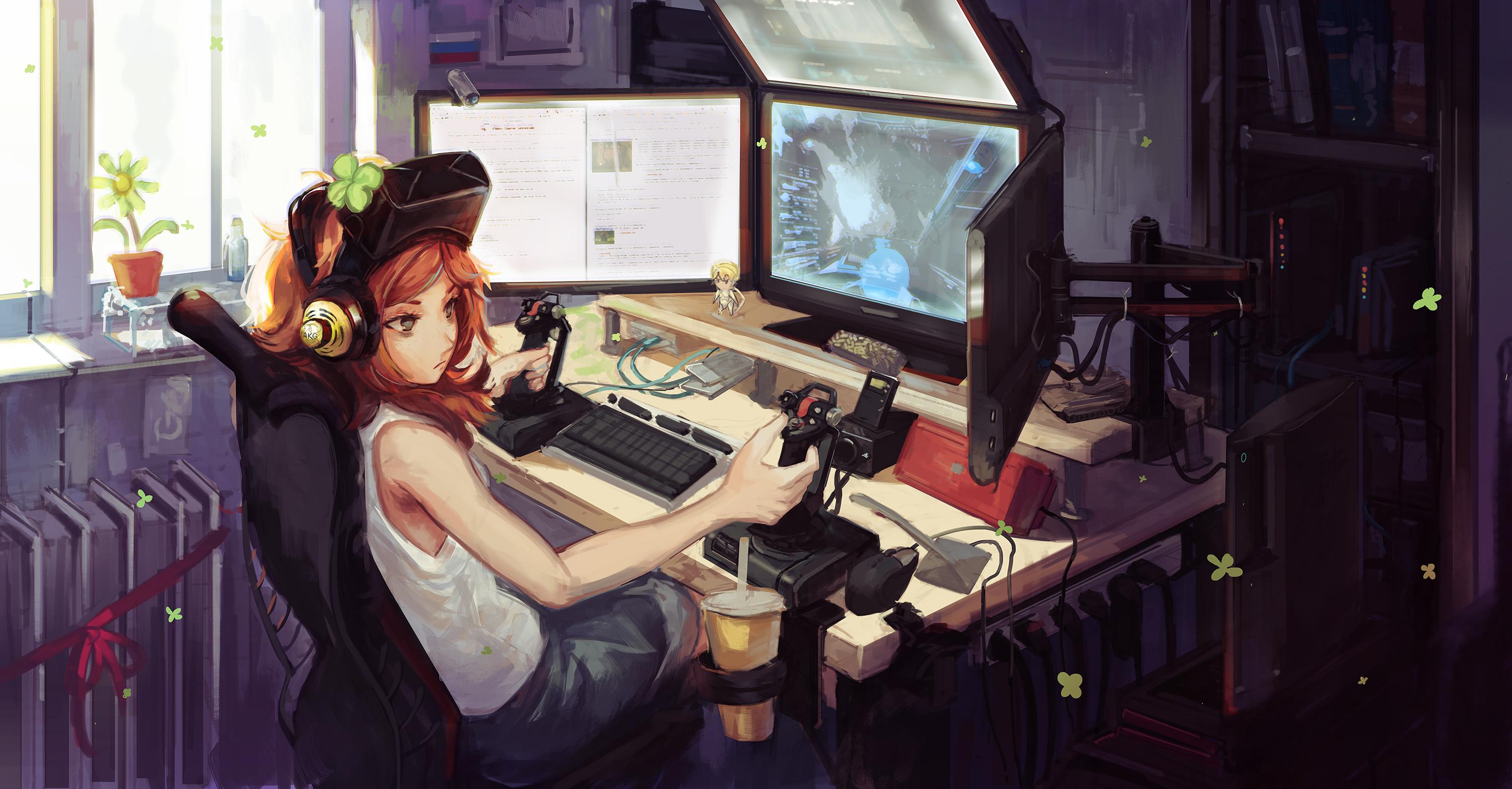 Hd wallpaper gamer - Anime Gamer Wallpaper Wallpapersafari