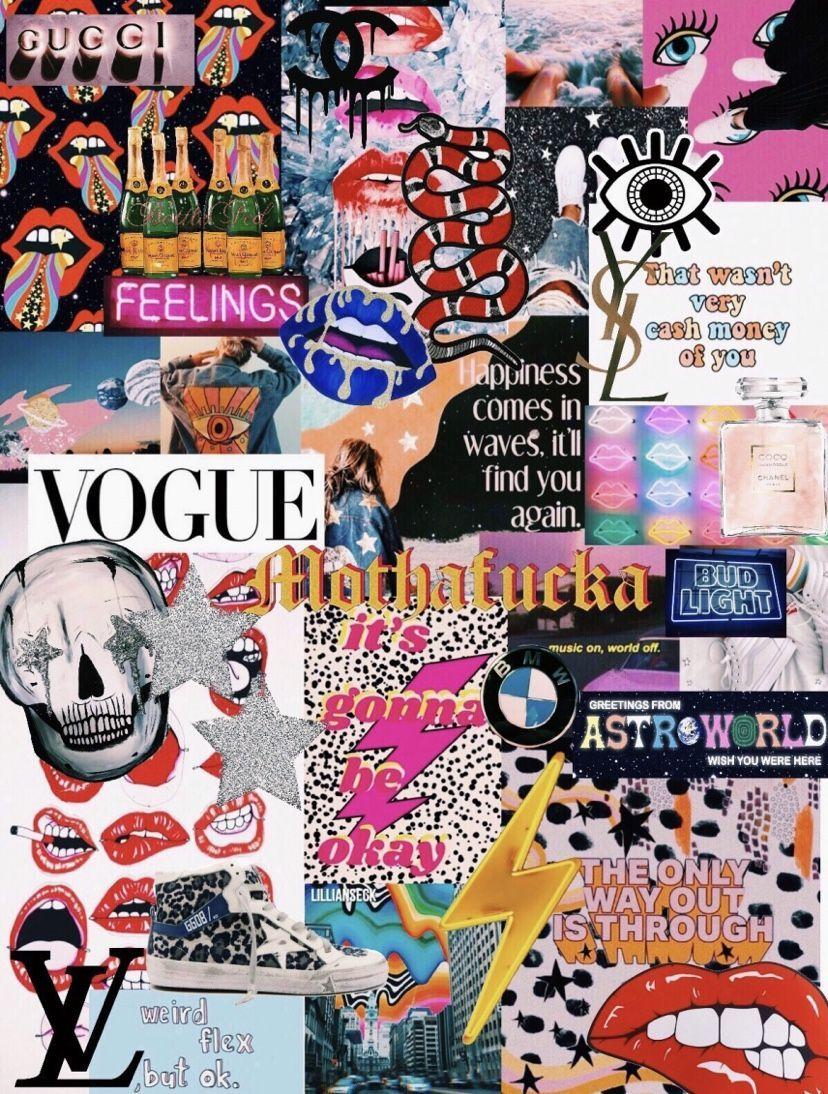 VSCO Collage Wallpapers 2020   Broken Panda 828x1094