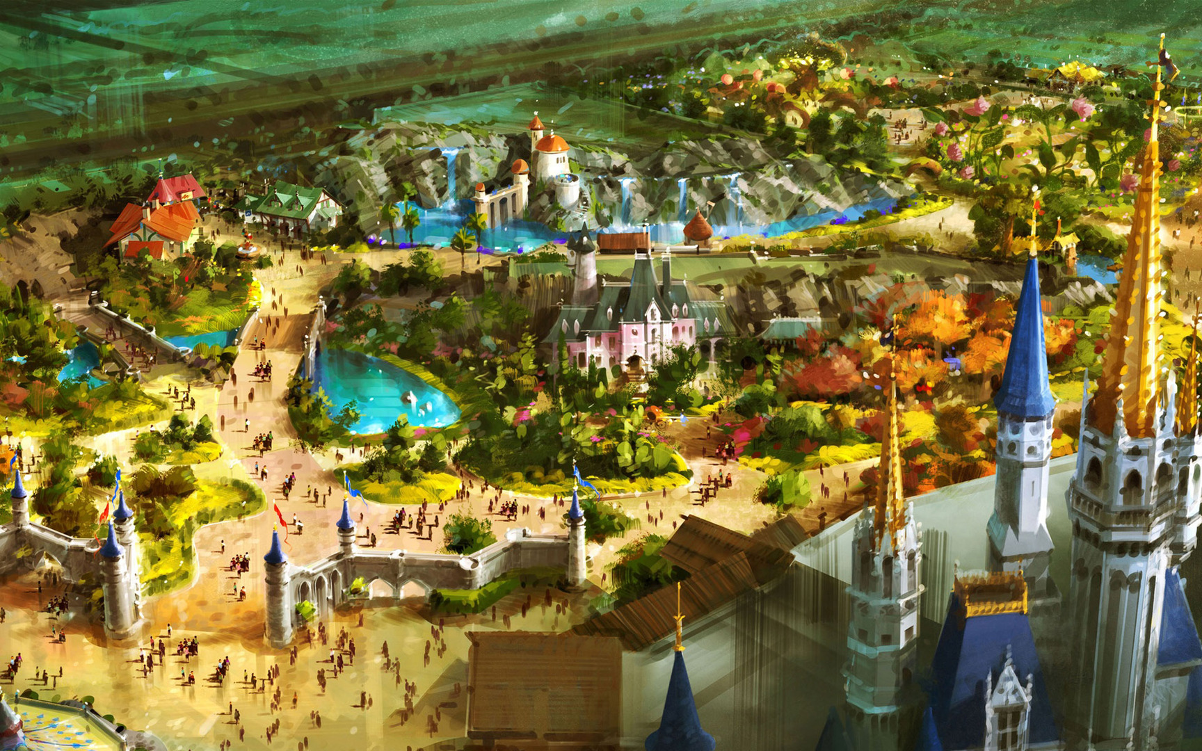 Disney Worlds Fantasyland wallpaper Cartoons Wallpaper Disney 1728x1080