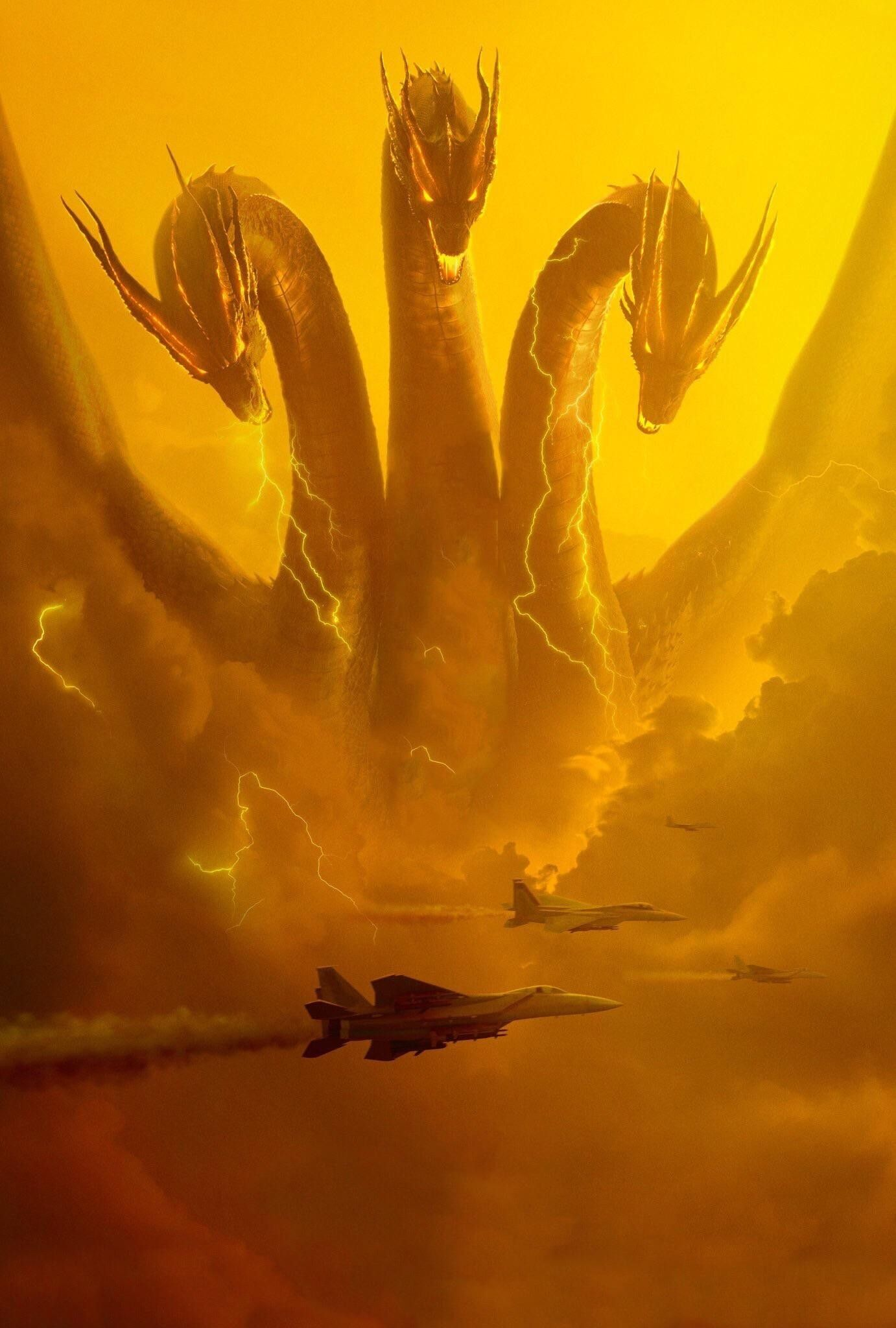 Official King Ghidorah 2019 Poster Textless in 2019 Godzilla 1382x2048