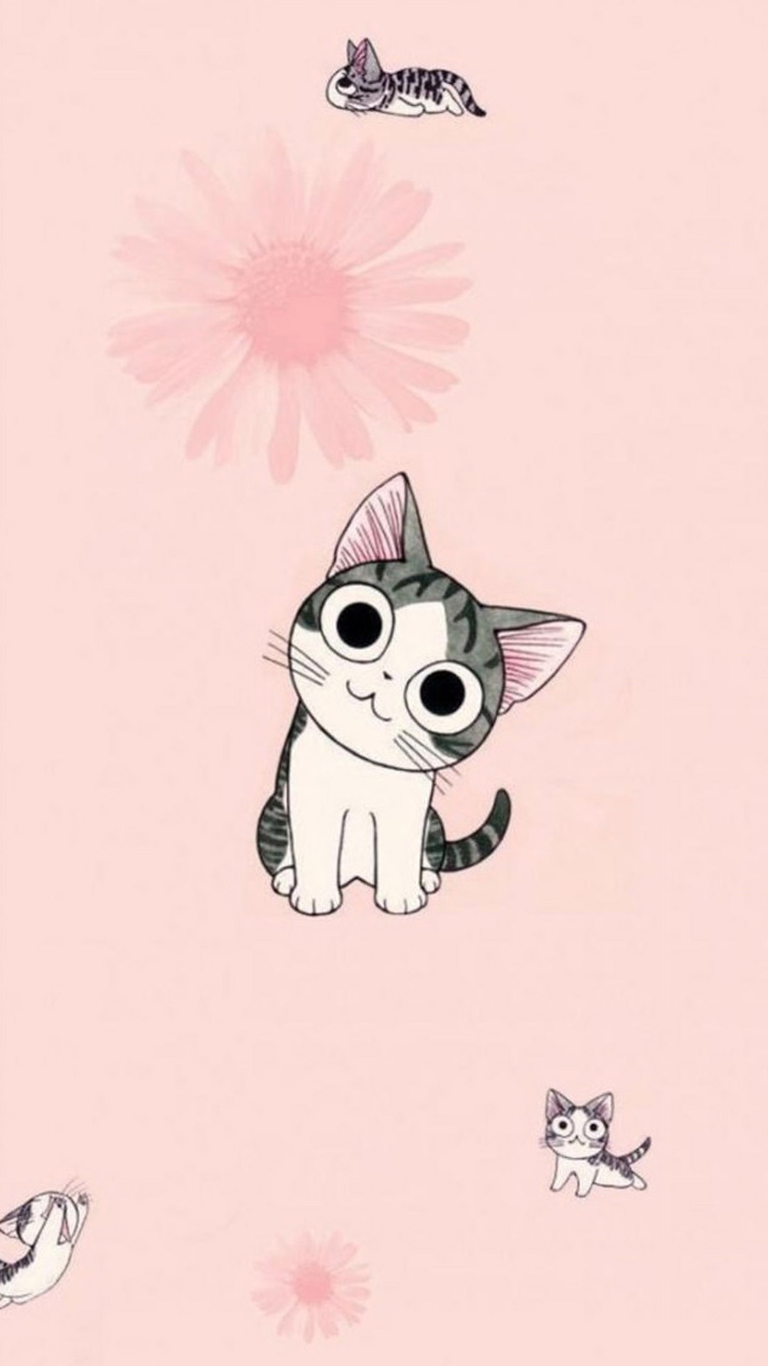 Cute cartoon cat wallpaper wallpapersafari - Cat wallpaper cartoon ...