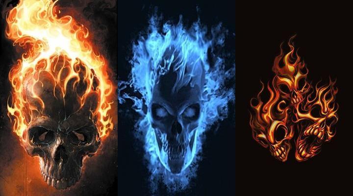 Hd Wallpapers Flaming Skulls 450 X 339 93 Kb Jpeg HD Wallpapers 720x400