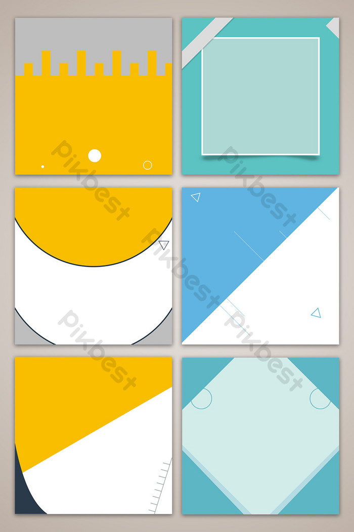 Flat geometric main infographic background Backgrounds PSD 700x1053