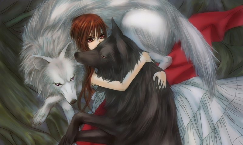 Anime wolf girl wallpaper wallpapersafari - Wolf girl anime pictures ...