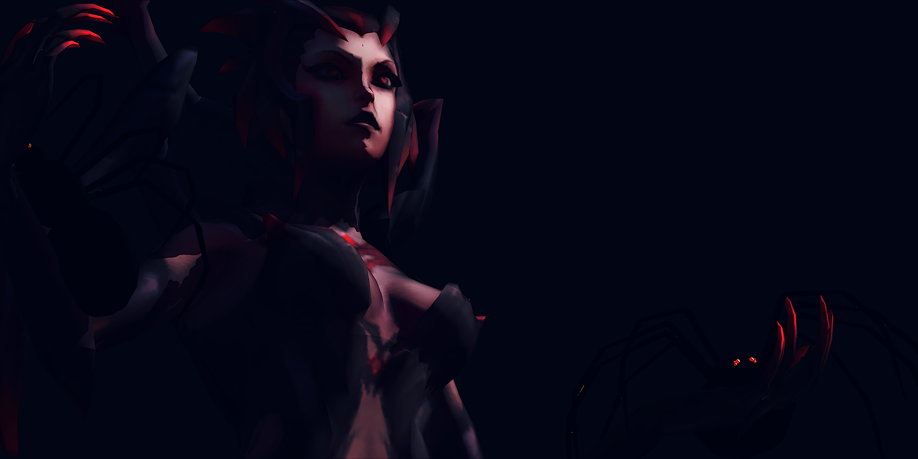 Elise the Spider Queen by NoUsernameIncluded 3000x1500