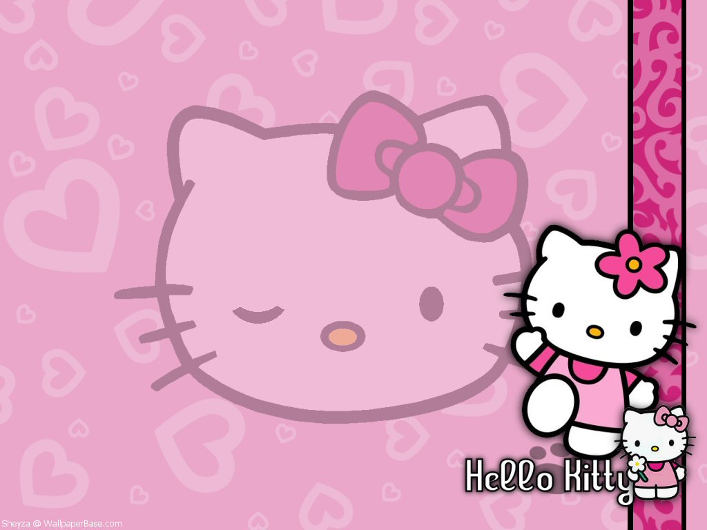 Mimmy and Hello Kitty Wallpaper Hello Kitty Pink 1024x768