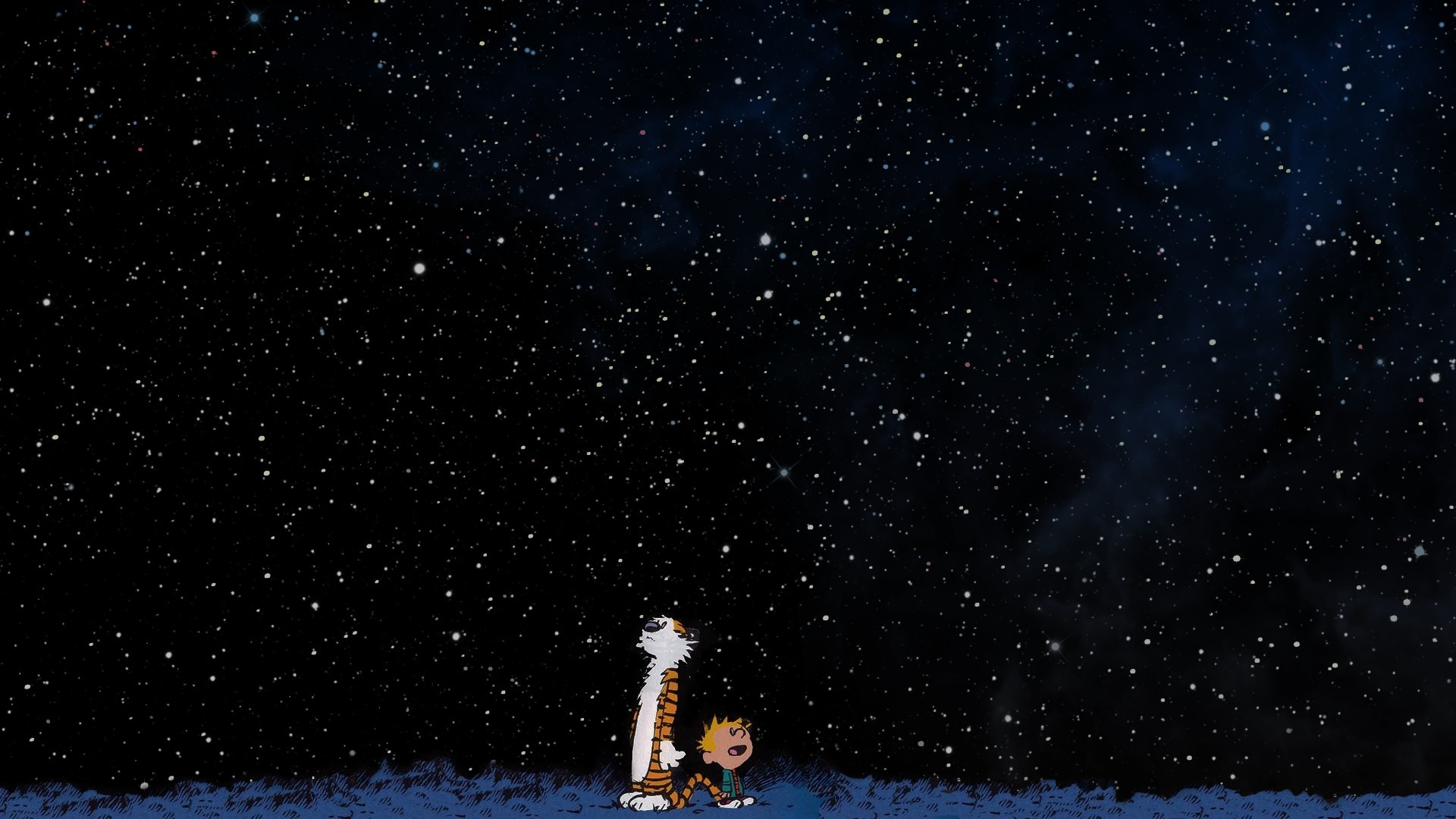 Free Download Calvin And Hobbes Space Stars Wallpapers Hd Desktop