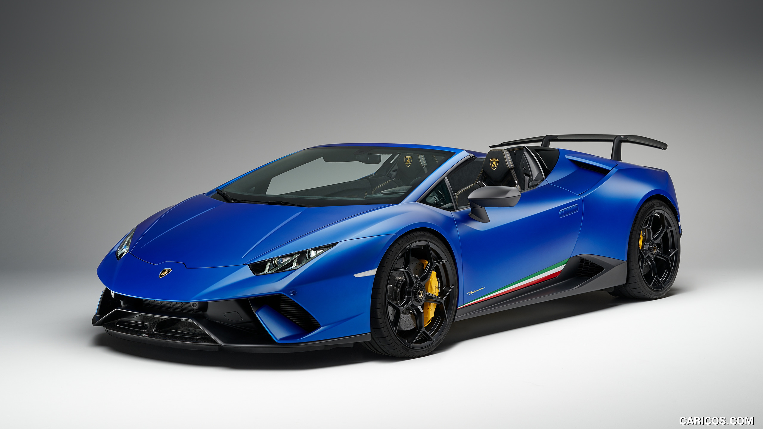2019 Lamborghini Huracn Spyder Performante   Front Three Quarter 2560x1440