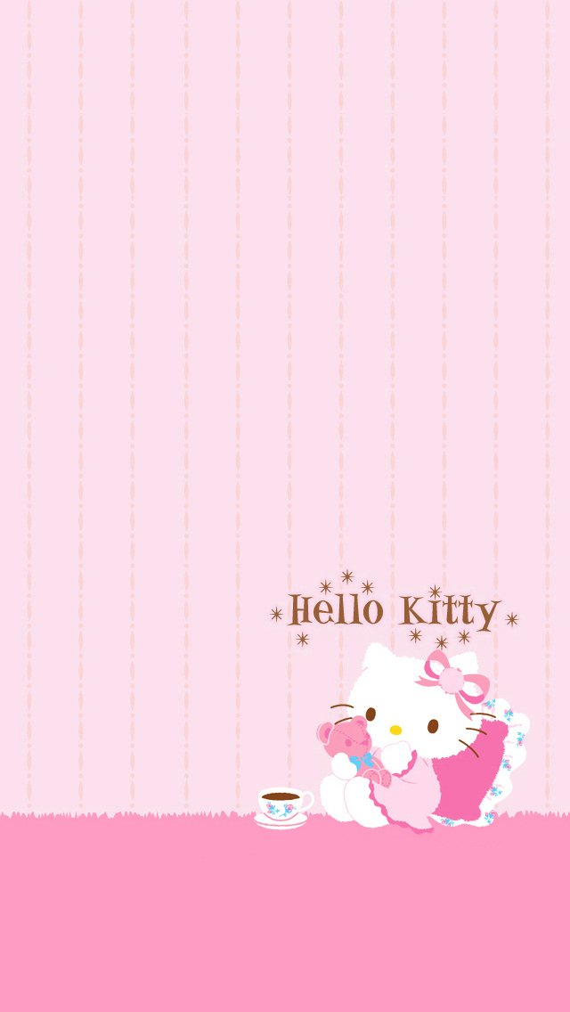 Hello kitty wallpaper for iphone wallpapersafari wallpaper hd wallpapers wallpaper for your desktop smartphone tablet voltagebd Image collections