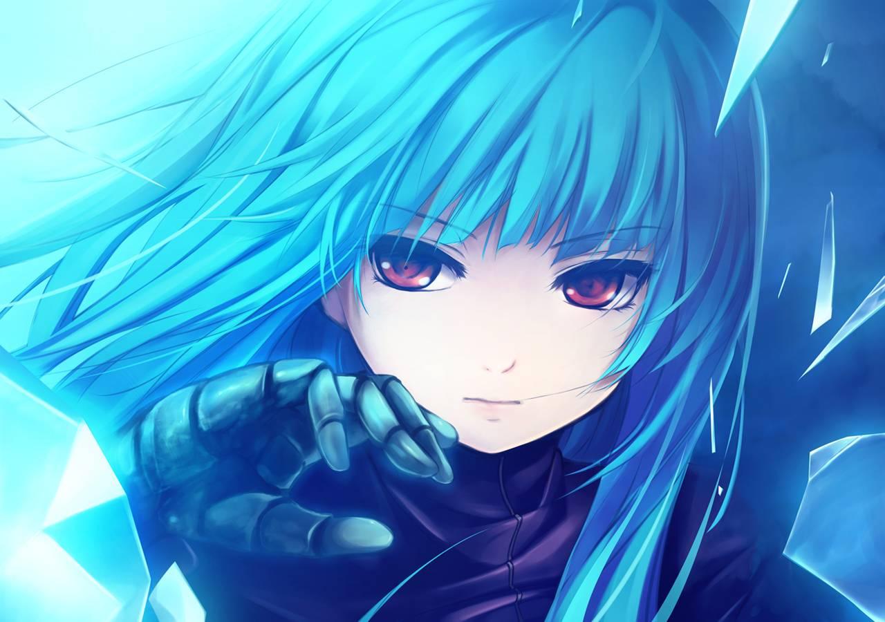 Cool blue anime girl Cool blue anime girl 1280x900