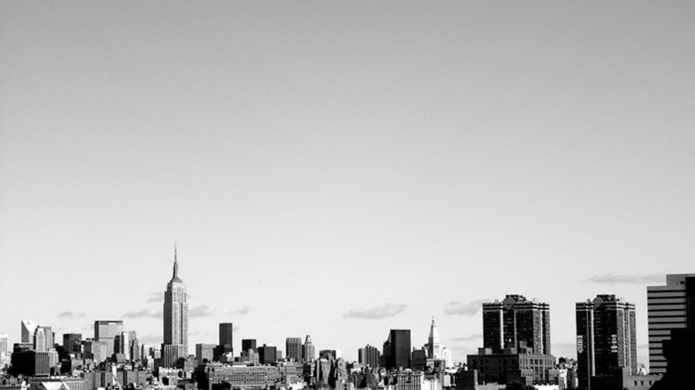 Black White New York City Wallpaper Wallpaper WallpaperLepi 1366x768