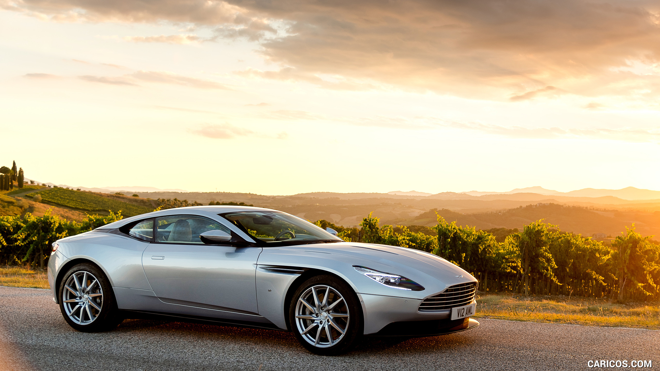 2017 Aston Martin DB11 Lightning Silver   Side HD Wallpaper 59 2560x1440