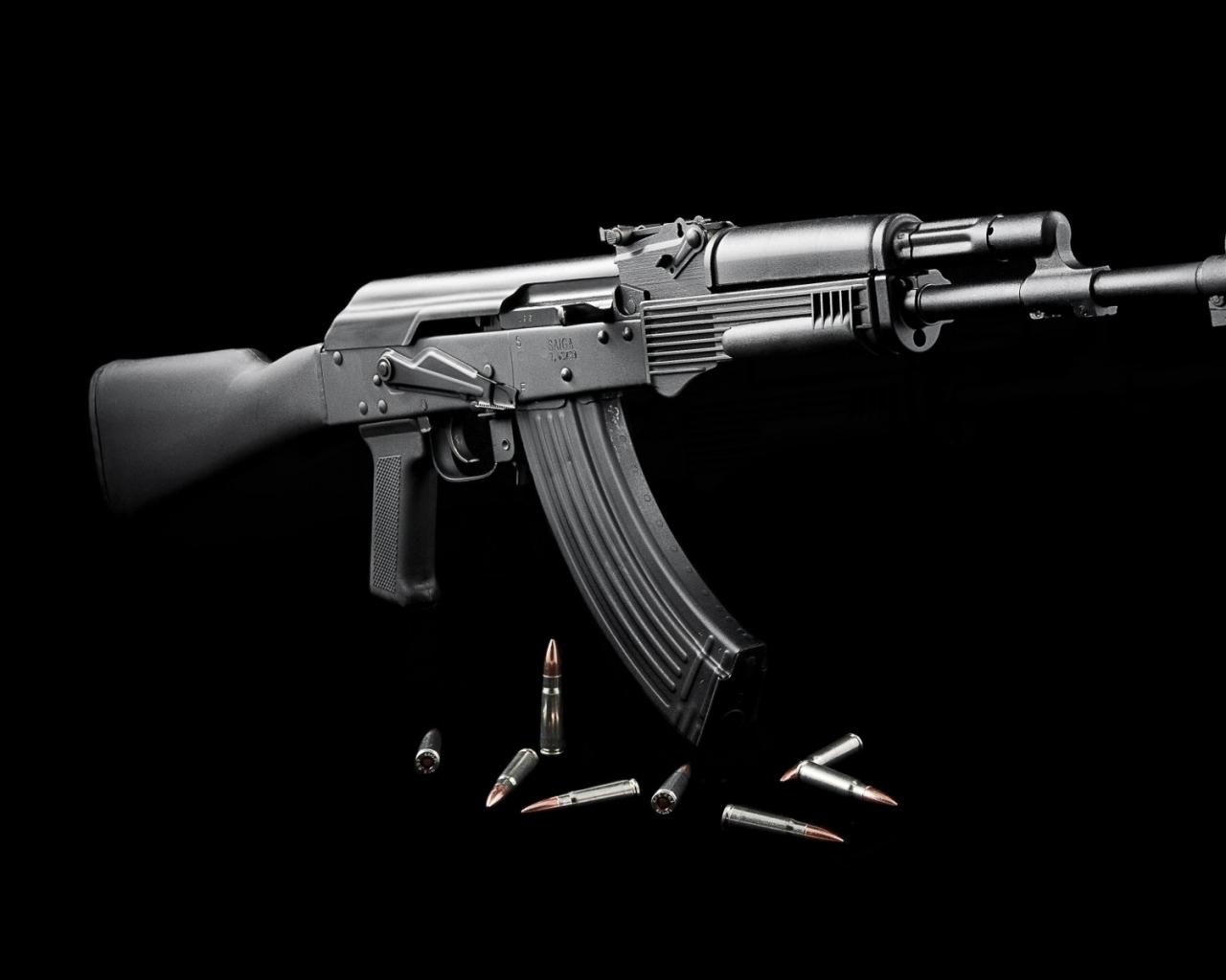 AK 47 guns wallpapers 1280x1024
