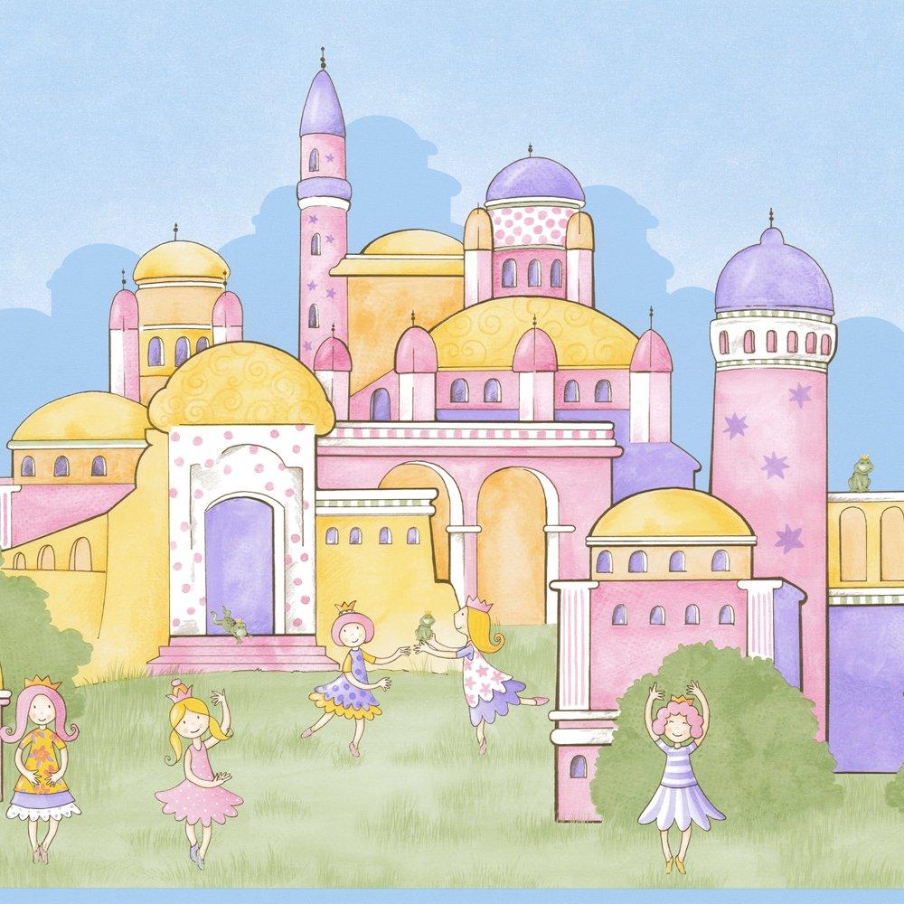 Borders Rasch Rasch Princess Extra Wide Wallpaper Border Pink 1000x1000