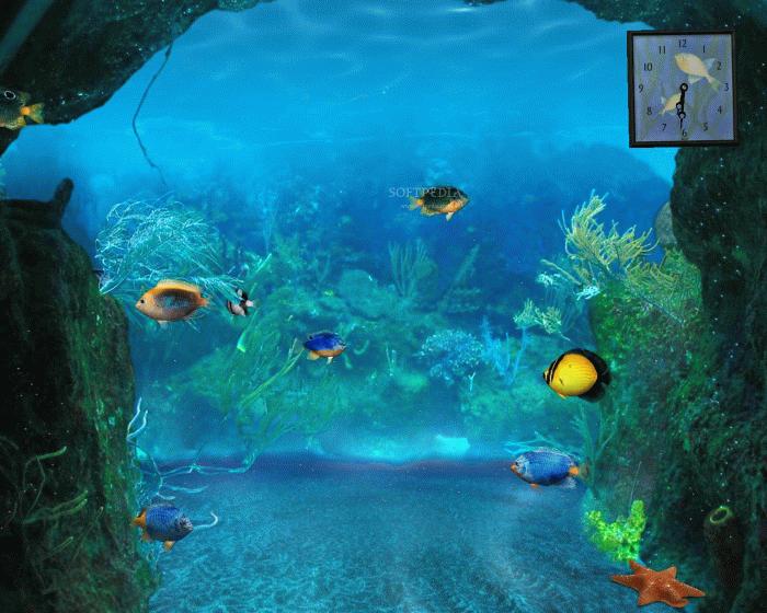 Free full screen animated wallpaper wallpapersafari for Animated fish tank