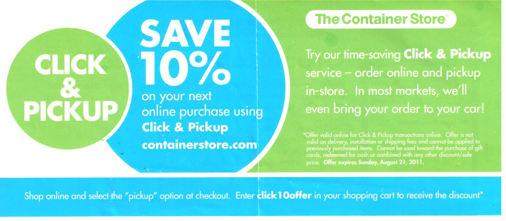 Expired The Container Store Coupons