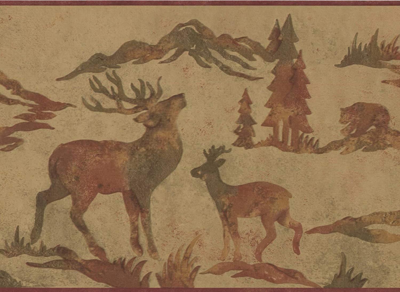 Wildlife Outdoors Moose Deer Elk Silhouettes Brown Wallpaper 1500x1095
