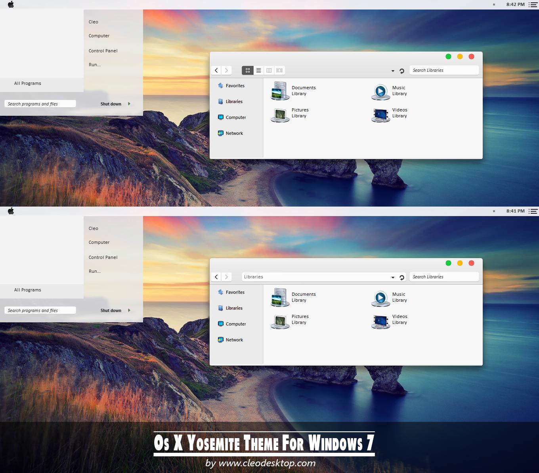 OS X Yosemite Theme Windows 81 Cleodesktop 1360x1193