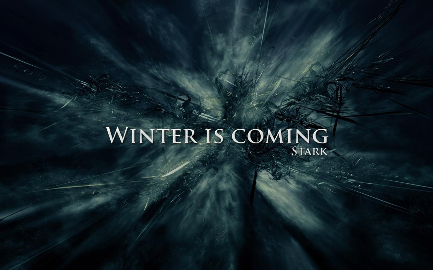 Game of thrones house stark winter is coming wallpaper 82765 1440x900