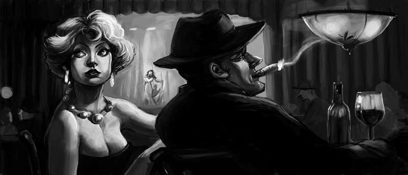 Film Noir Wallpaper Film noir by cbernie 800x343