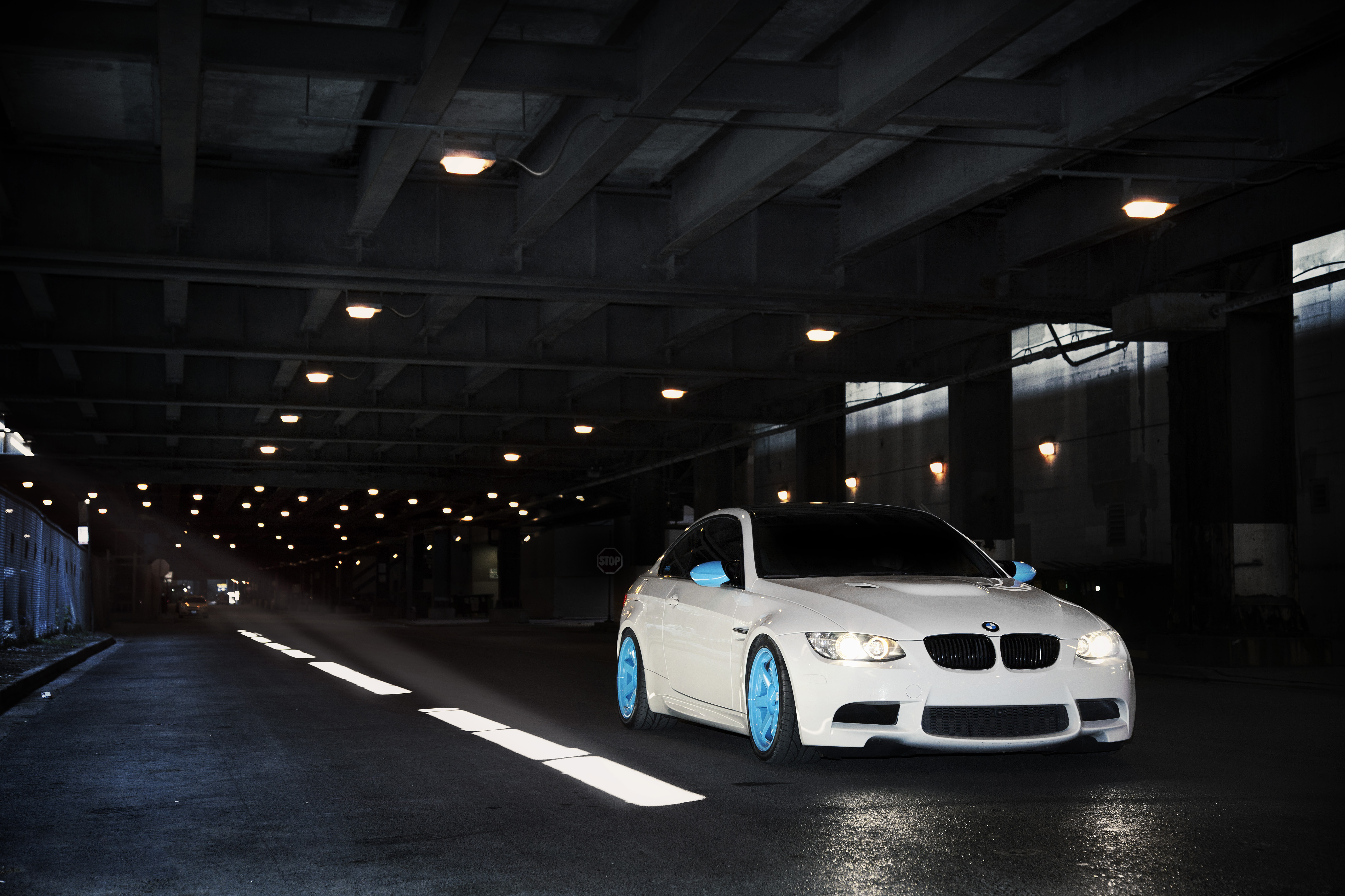 4K Wallpaper   Cars   White, BMW, M3, IND, Tunnel, E92