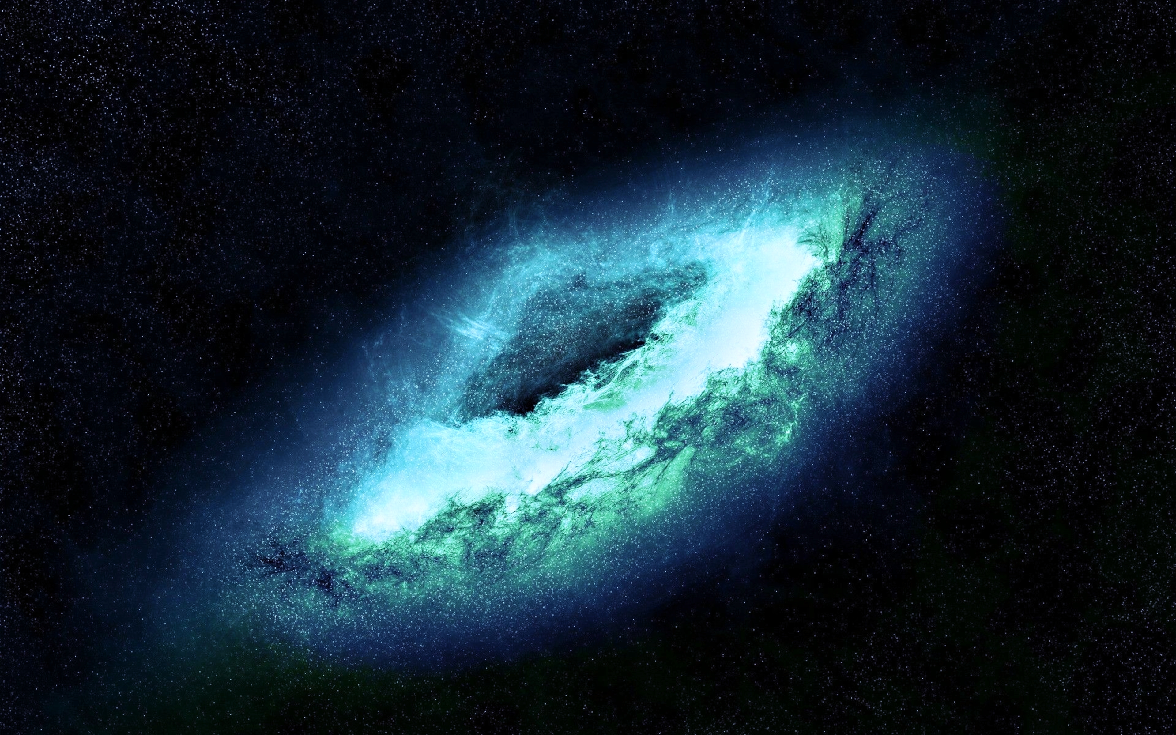 Wallpaper lenticular galaxy blue power wallpapers space   download 3840x2400