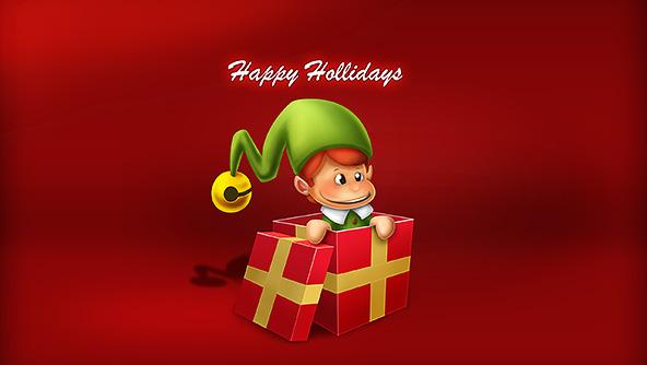 christmas elf wallpaper - photo #17