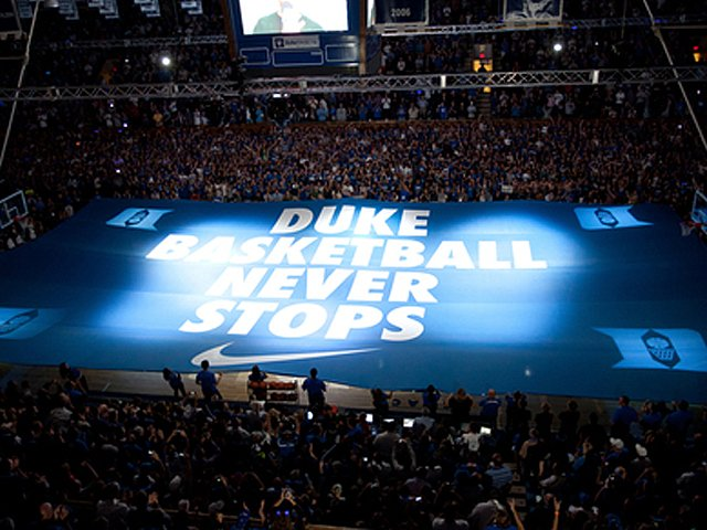 Duke Basketball Never Stops Wallpaper Nib0279 nike basketball never 640x480