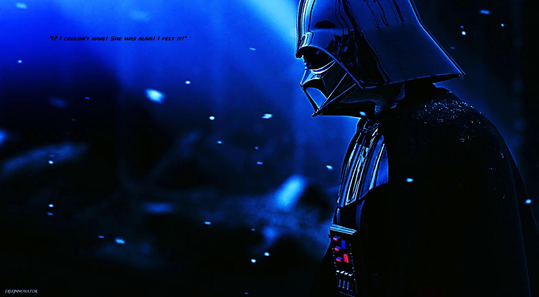 Darth Vader Mourns Wallpaper by TrueInnovator159 1735x957