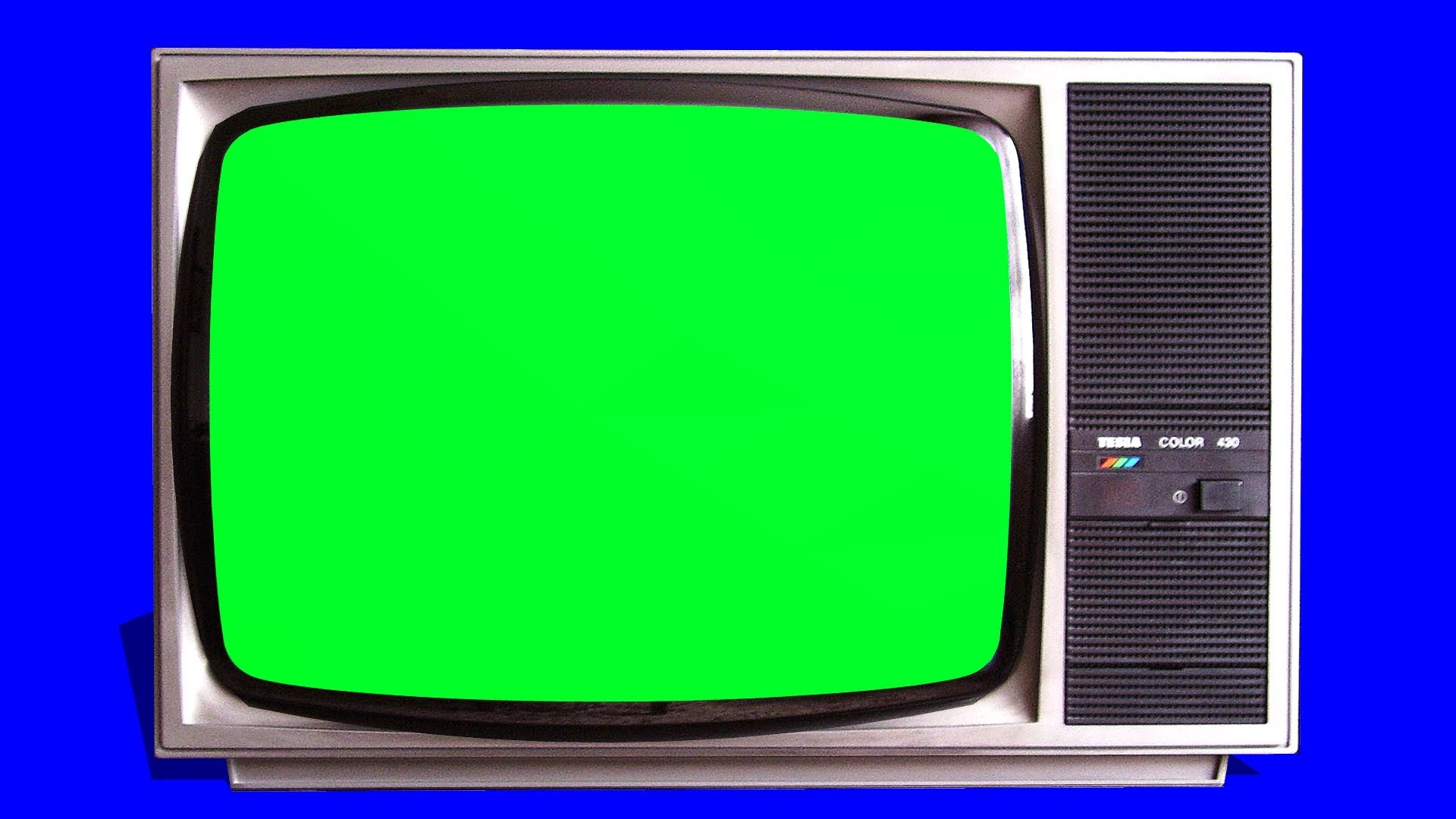 old TV vintage Televison green screen   tracking shot and stills 1920x1080