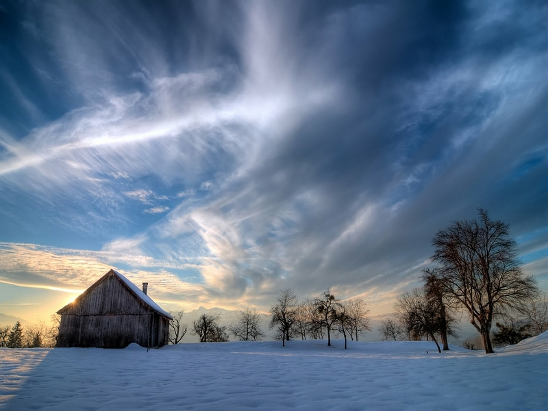 Barn Clouds Out In The Country Abstract Other HD Desktop Wallpaper 800x600