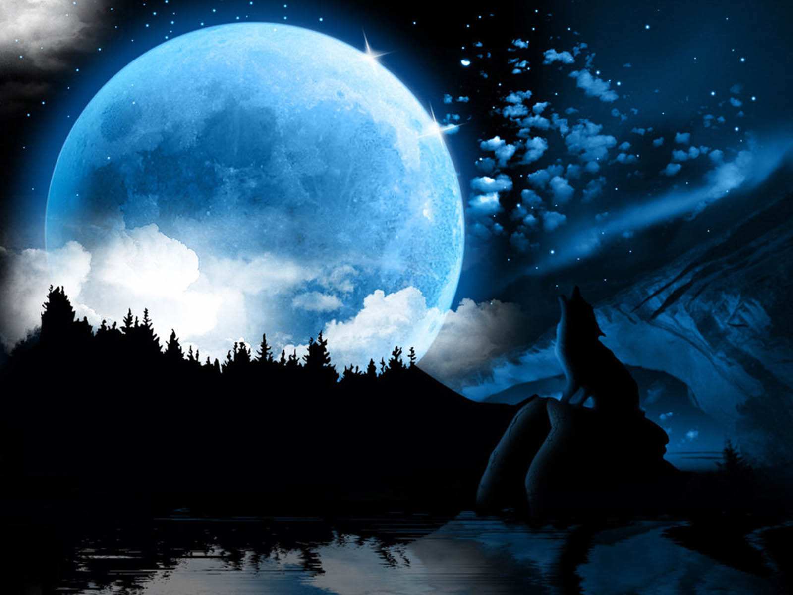 wallpaper Moon Fantasy Wallpapers 1600x1200