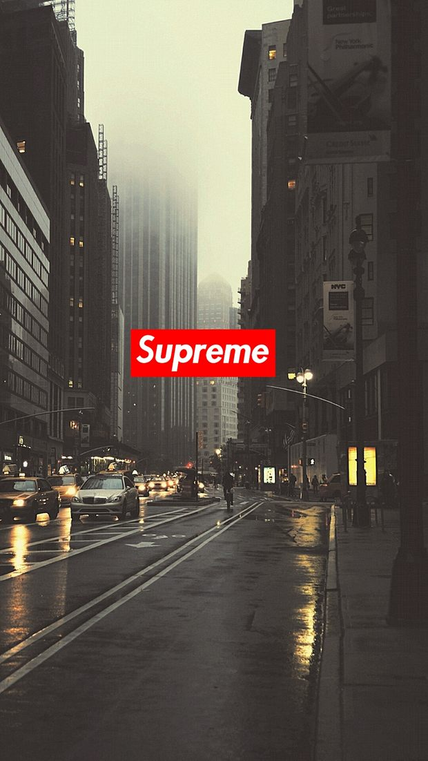 Download Supreme wallpapers to your cell phone   art city 620x1102