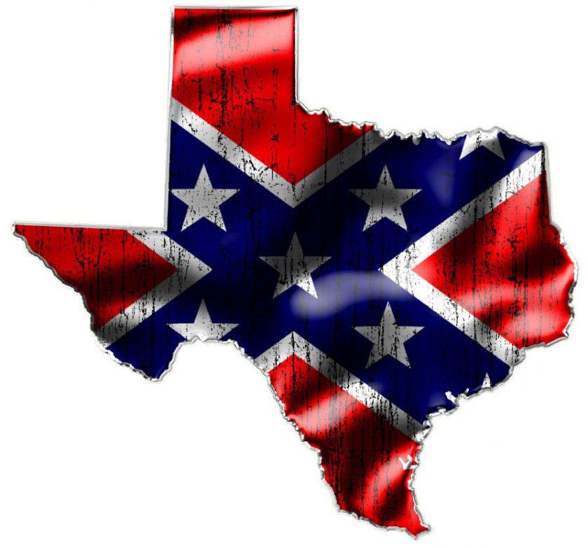 TEXAS TWO Confederate Rebel Flag Vinyl Decals 840x783
