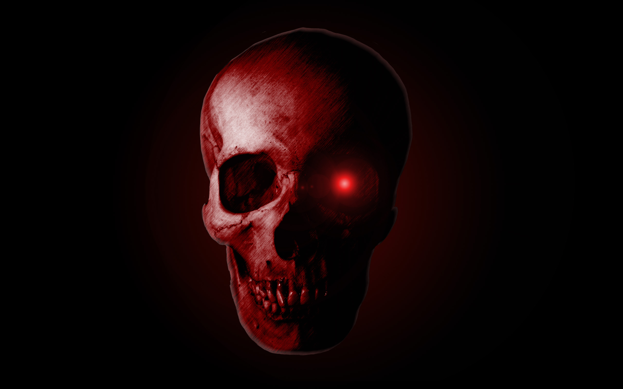 Wallpaper 166 Evil skull Red and Black Wallpapers 2560x1600