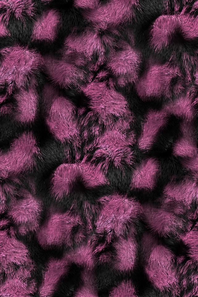 pink faux fur wallpaper 640x960