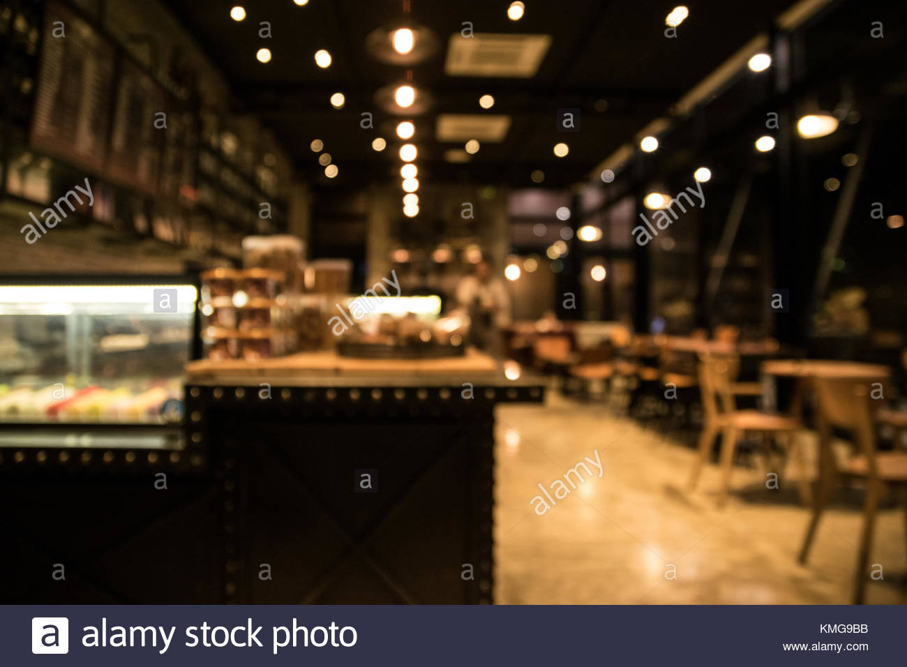 The night cafe blurry image on boken background Stock Photo   Alamy 1300x956