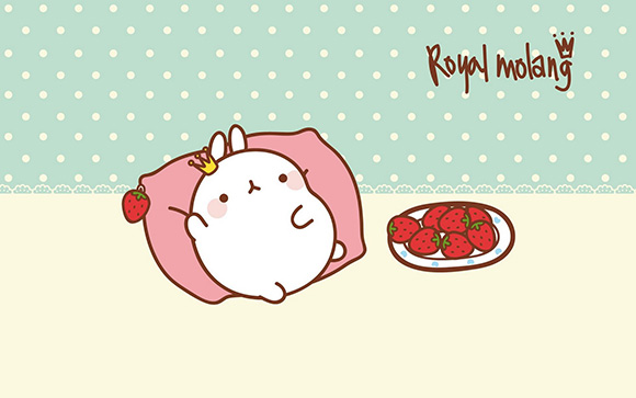 Free Download Molang Cute Korean Bunny Wallpaper 580x363 For Your