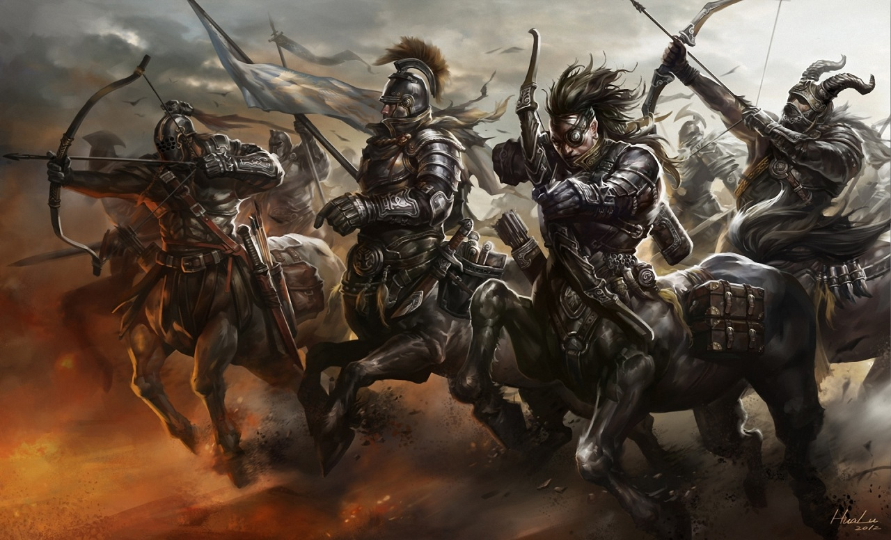 Serious Centaur Wallpaper The Four Horsemen Centaurica 1280x776