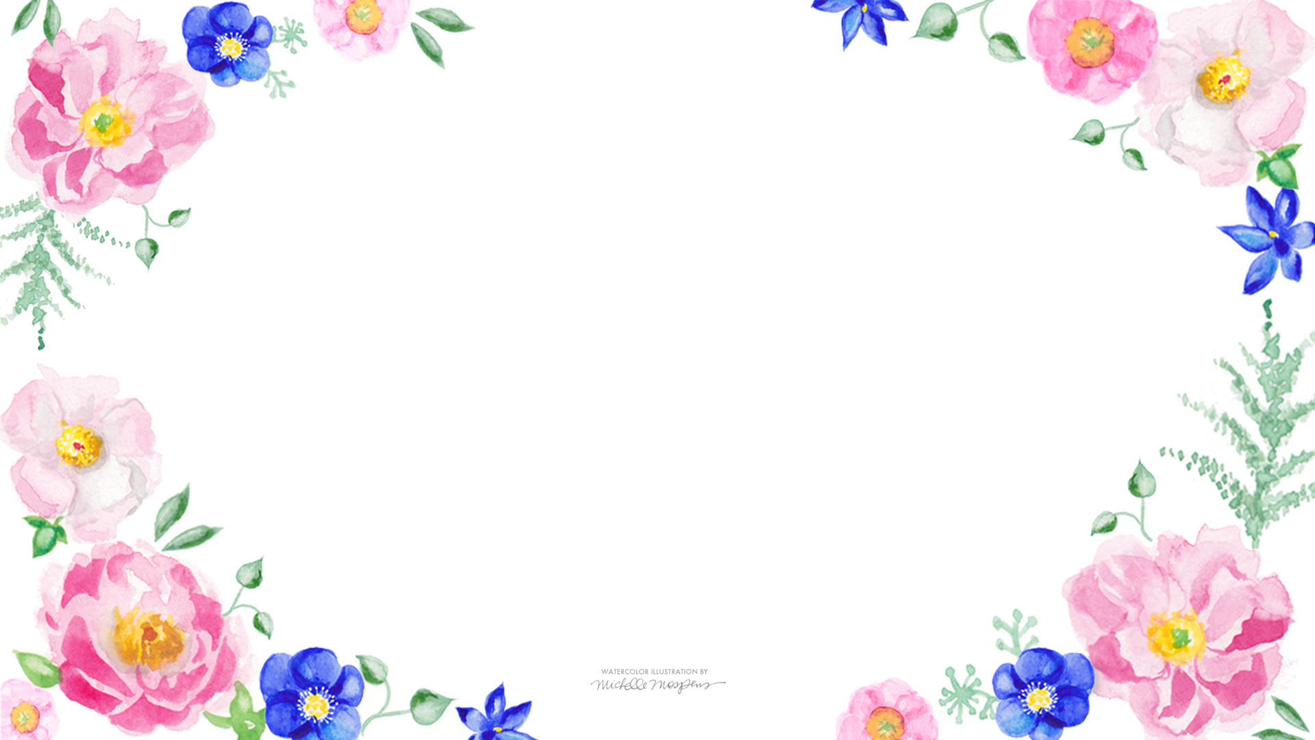 34 Floral Watercolor Wallpaper On Wallpapersafari