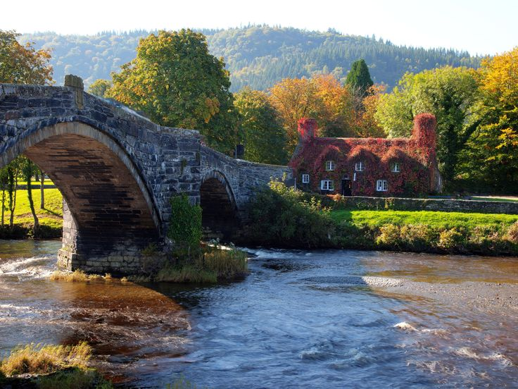 Bridge Over River Snowdonia Wales HQ Wallpapers for PC 736x552