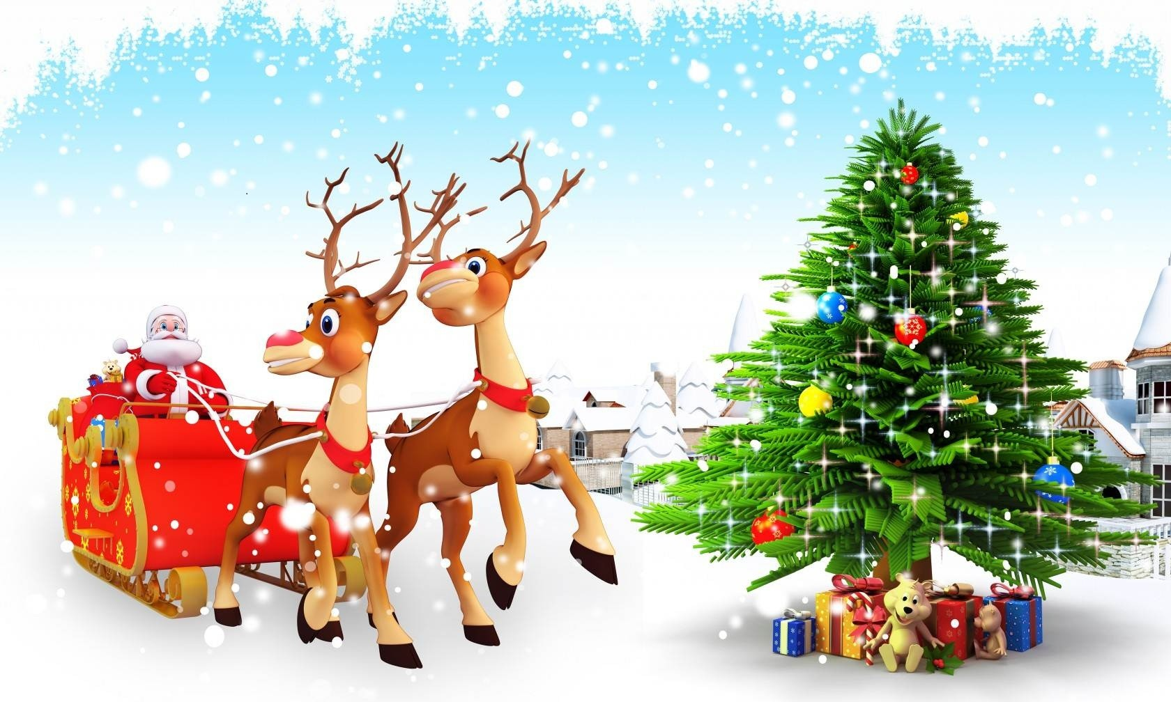 3d christmas wallpaper 1680x1008