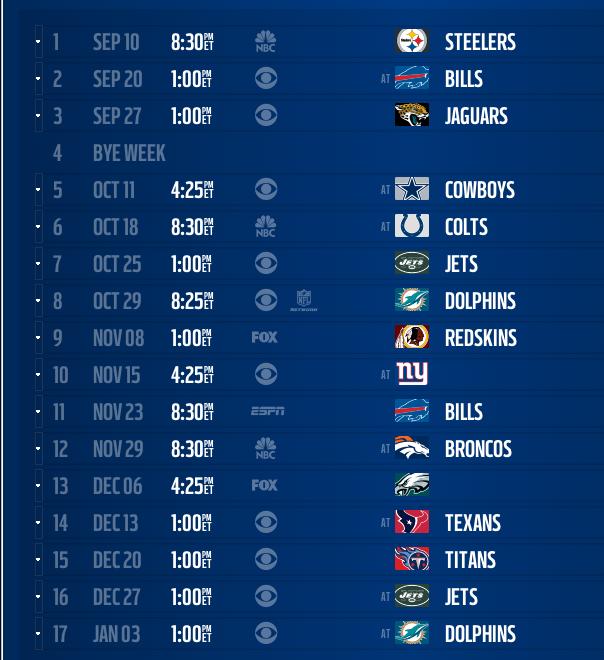 NEW Patriots 2015 16 Schedule Released 604x660