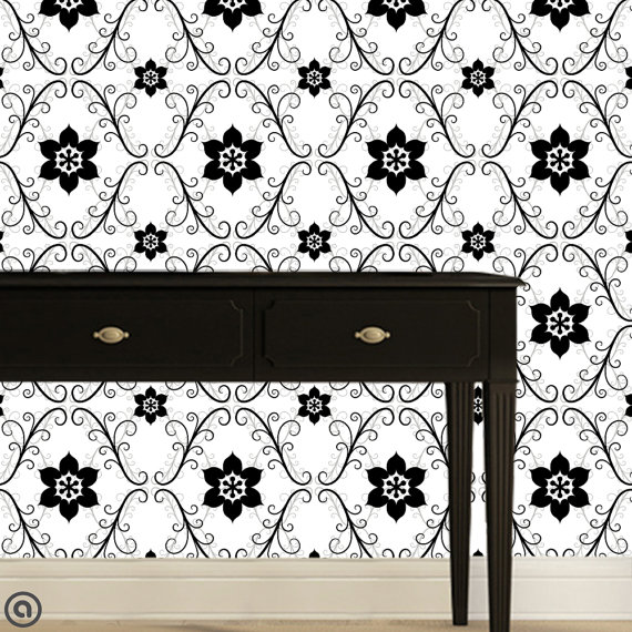 Fabric Temporary Wallpaper Repositionable Reusable  FAST EASY 570x570