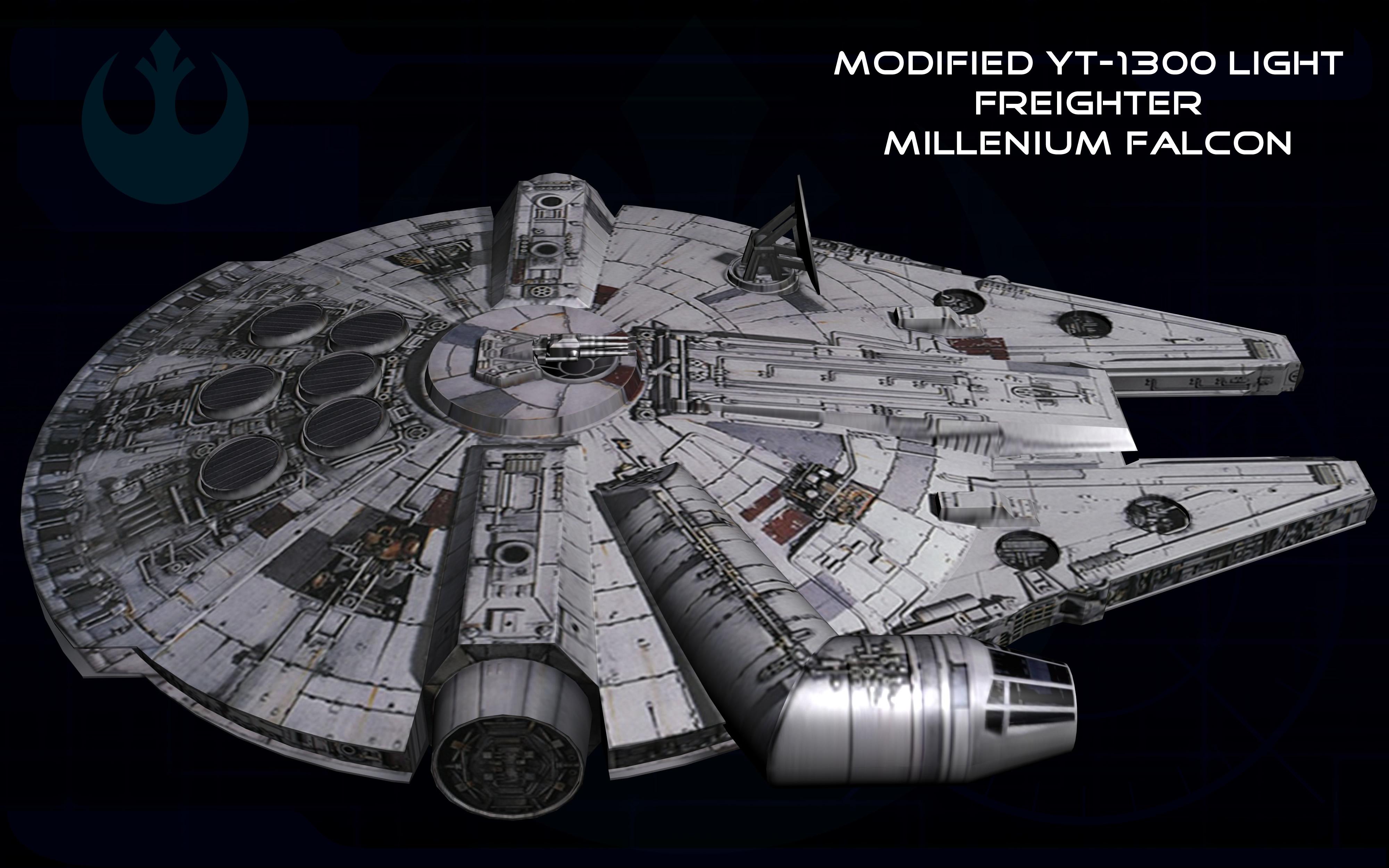 millenium falcon wallpaper