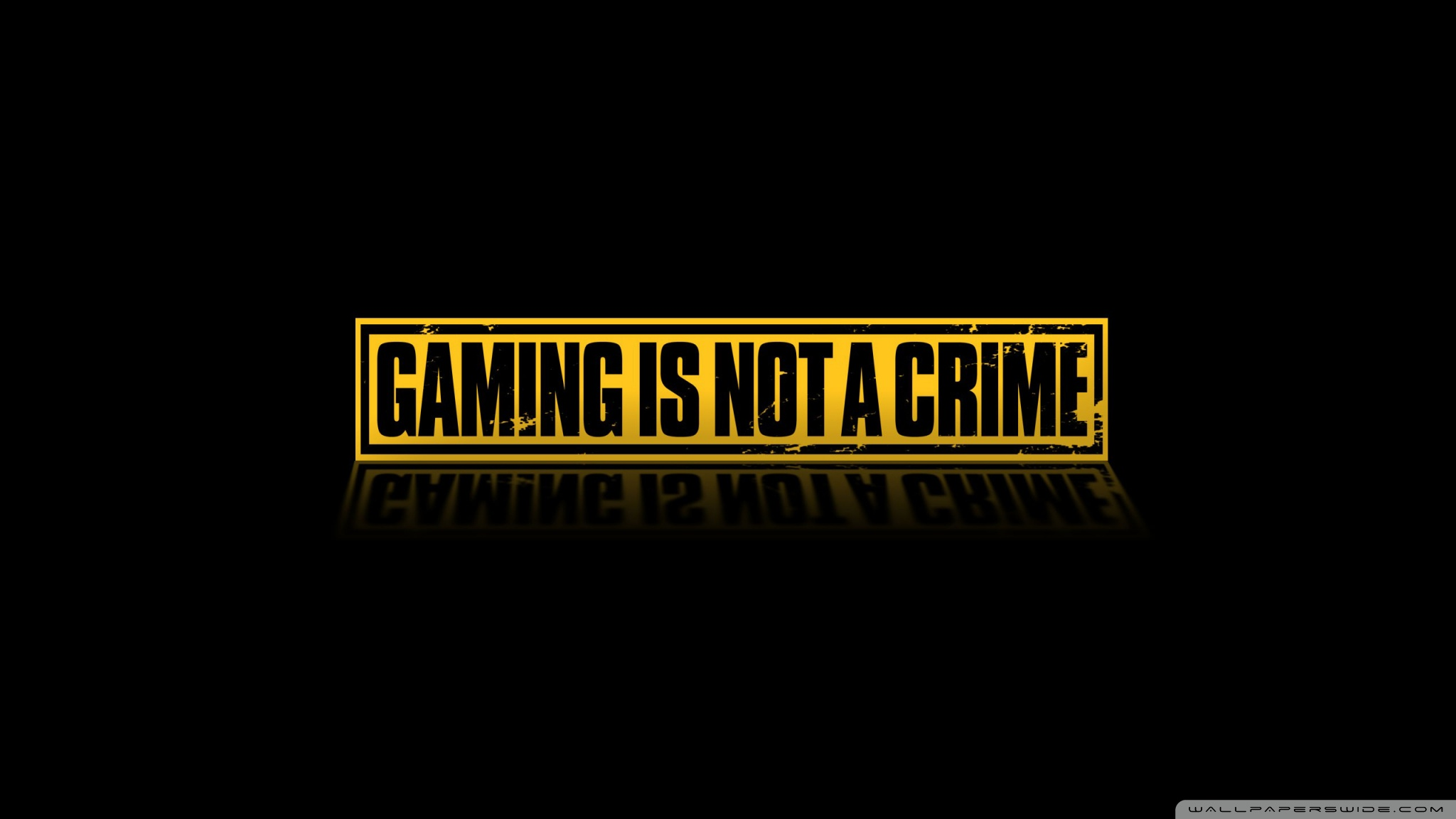 Gaming Is Not A Crime 4K HD Desktop Wallpaper for 4K Ultra HD 2048x1152
