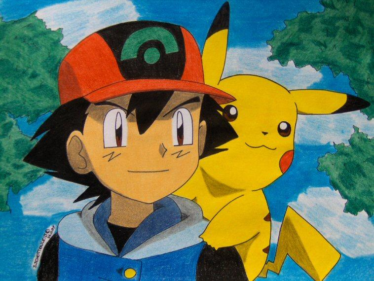 happy pikachu running ash misty don touch her ash misty 758x570